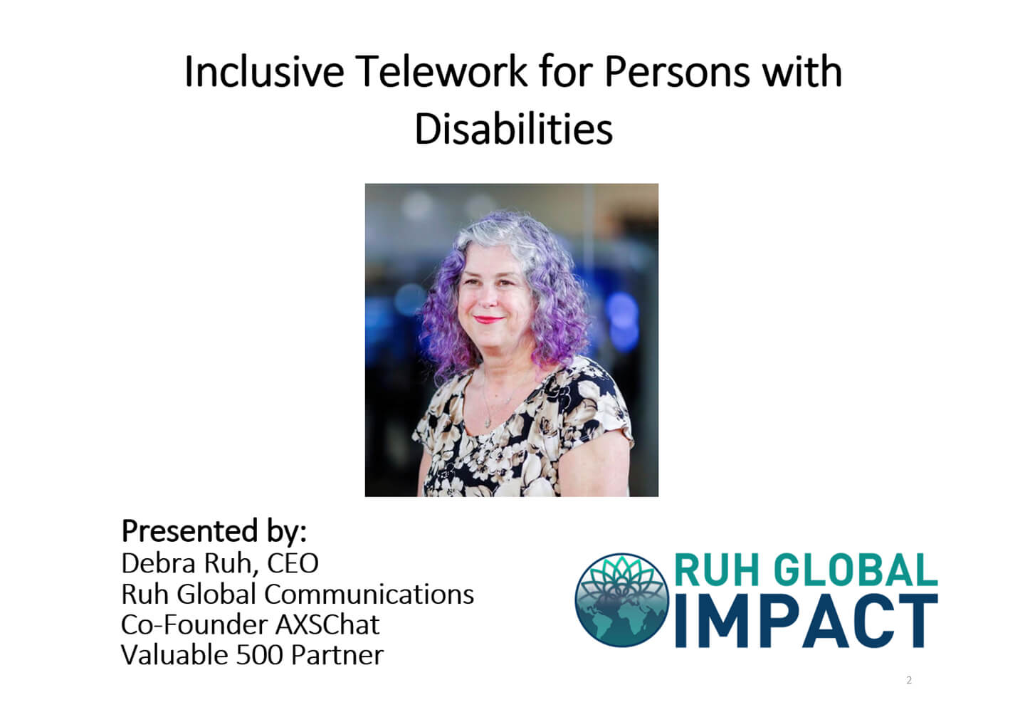 Inclusive Telework for People with Disabilities
