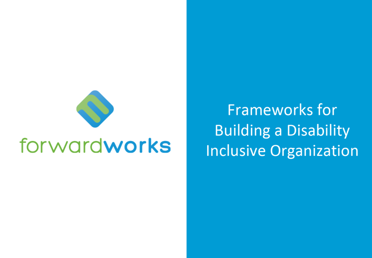 Frameworks & Assessment Tools for Disability Inclusion