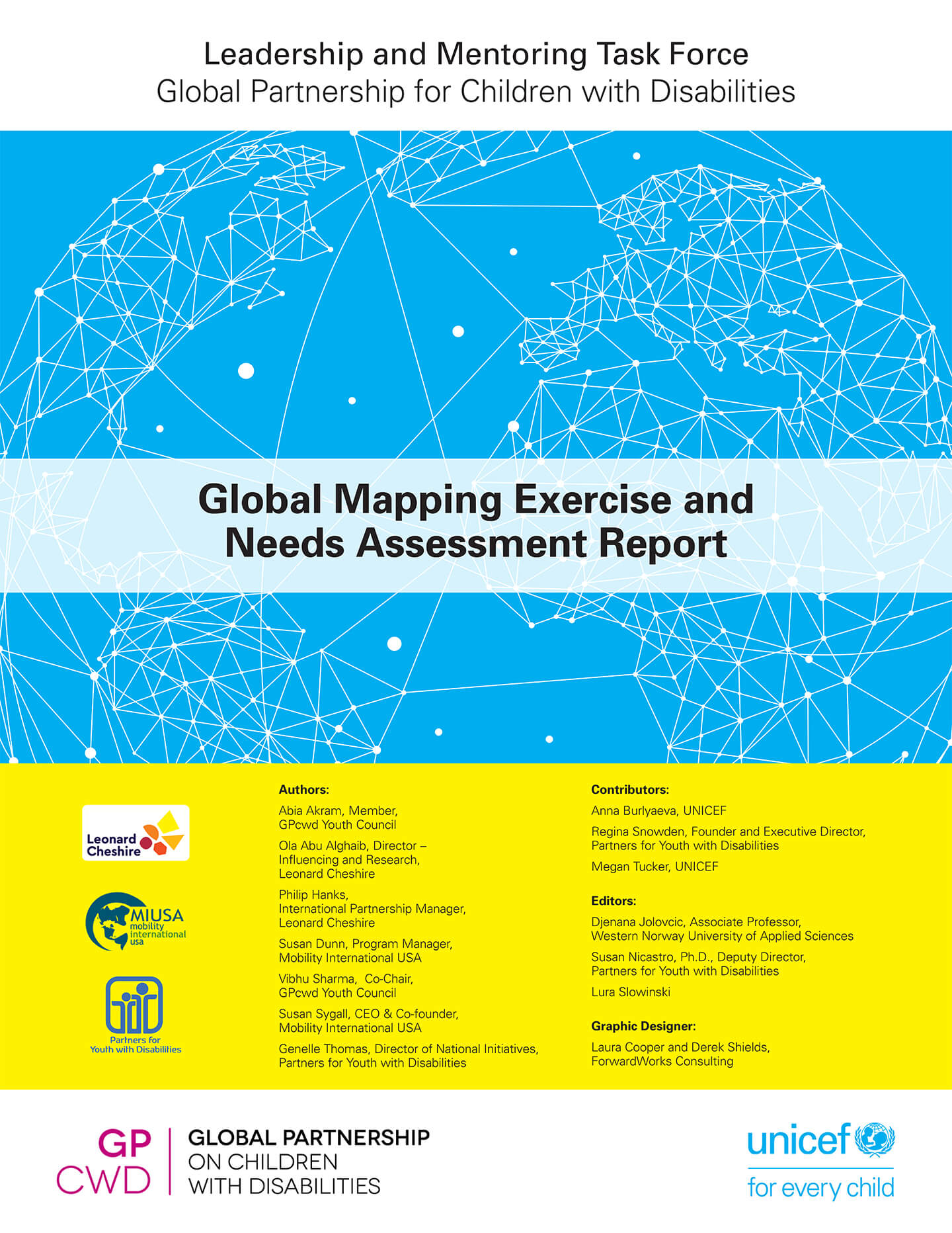 Global Partnership for Children with Disabilities: Global Mapping Exercise and Needs Assessment Report