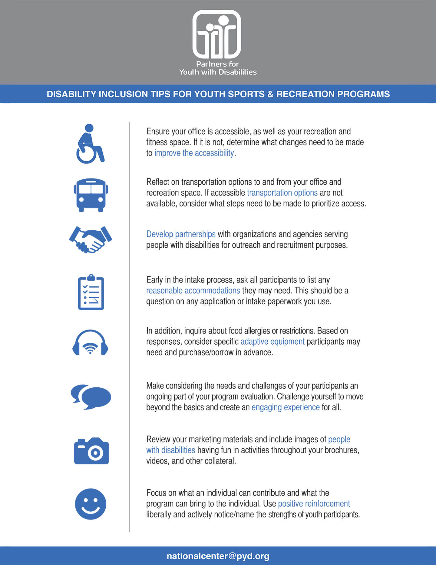 Disability Inclusion Tips for Youth Sports & Recreation Programs
